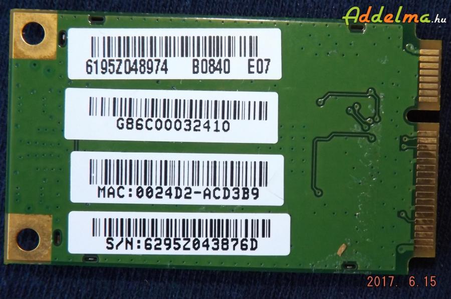 WiFi kártya (Toshiba)