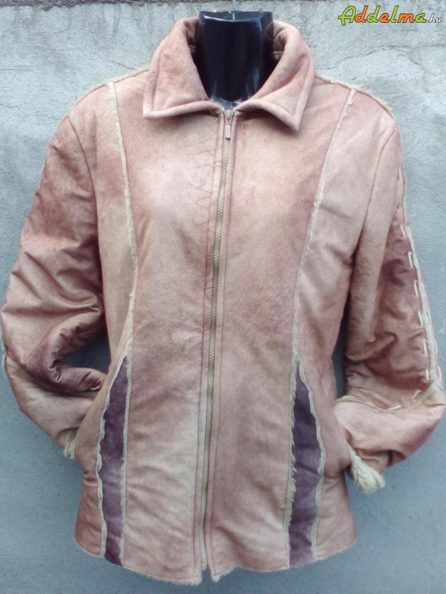 Rövid fazonú műirha kabát kb. L-es