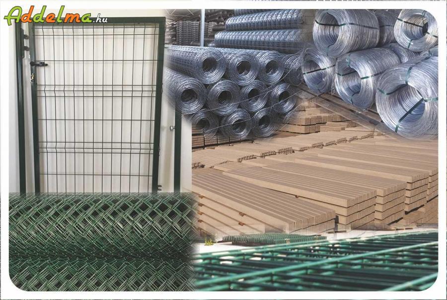Vadháló drótfonat kerítés oszlop építés betonoszlop