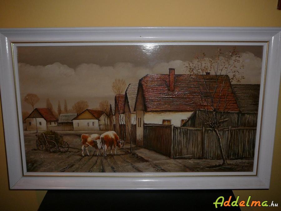 Festmény Rónai Antal : Megérkezés