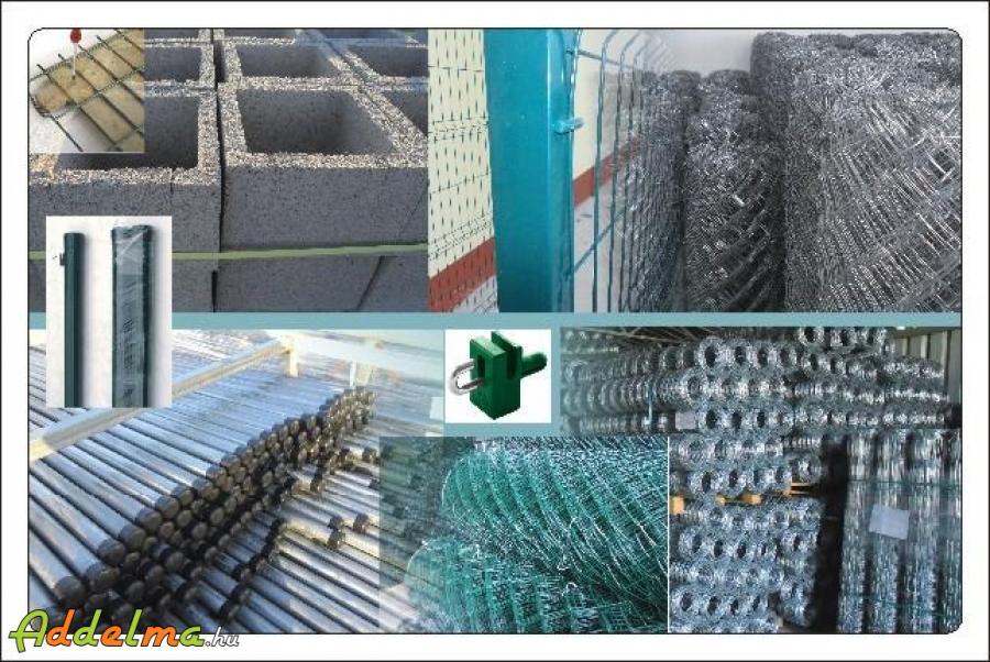 Vadháló drótfonat kerítés oszlop kapu betonoszlop fémoszlop