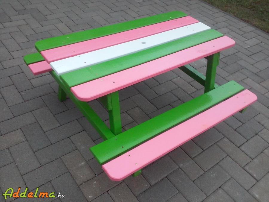 Gyerekpad szörppad sörpad rajz pad piknik asztal kispad kisasztal