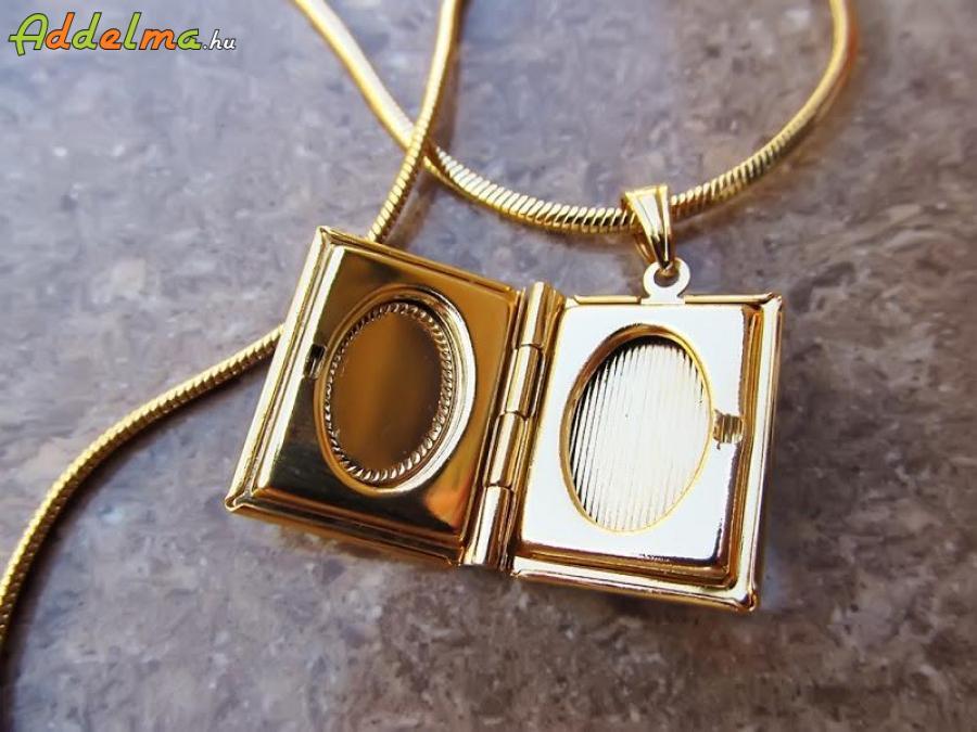 Gold Filled Női nyaklánc kinyitható Biblia medállal 500x2 C85