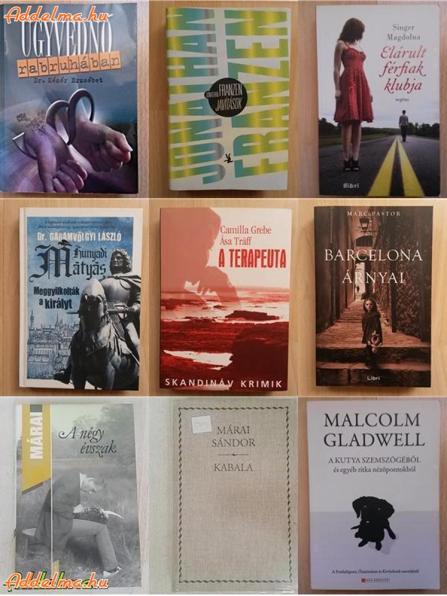 Új könyvek vegyesen kaland, dráma, krimi