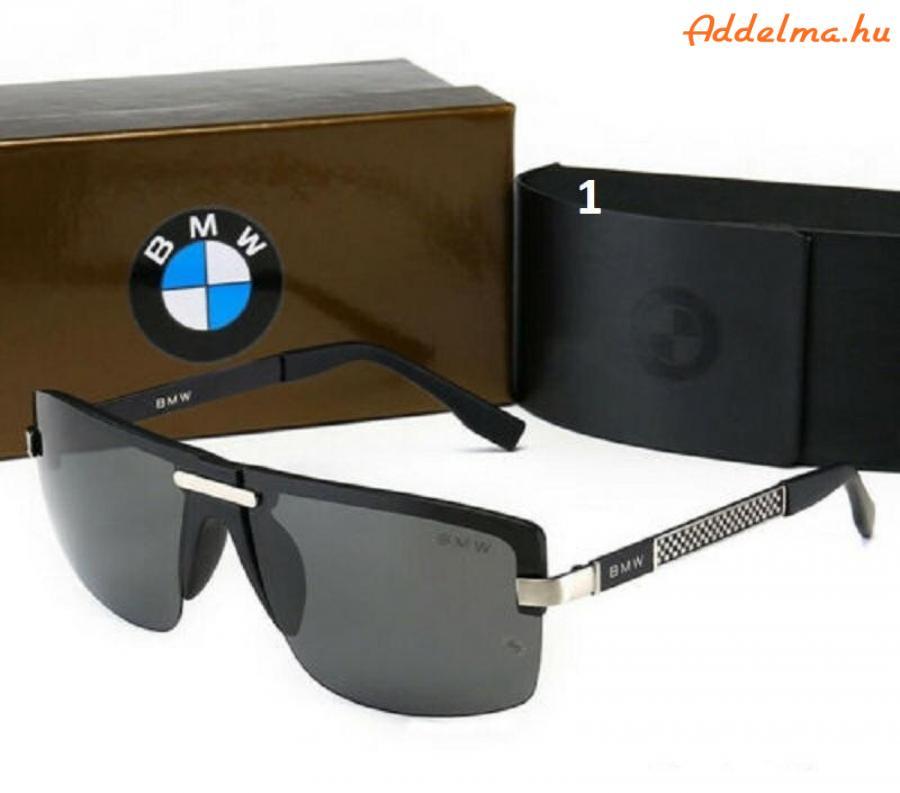Ajándék, elegáns, BMW logós UV400 napszemüveg
