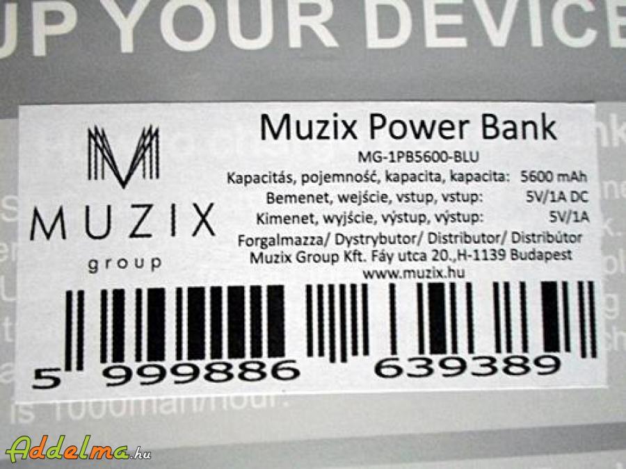 Muzix power bank 5600mah külső akkumulátor
