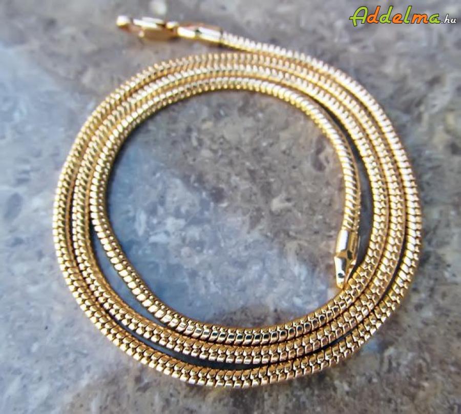 Classic Yellow Gold Filled kígyó Női Nyaklánc 450x2 T0580