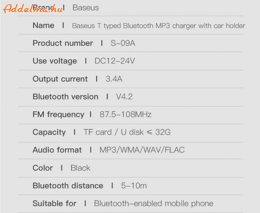 FM Transzmitter Bluetooth 4.2 Dual USB autós töltő mp3 player