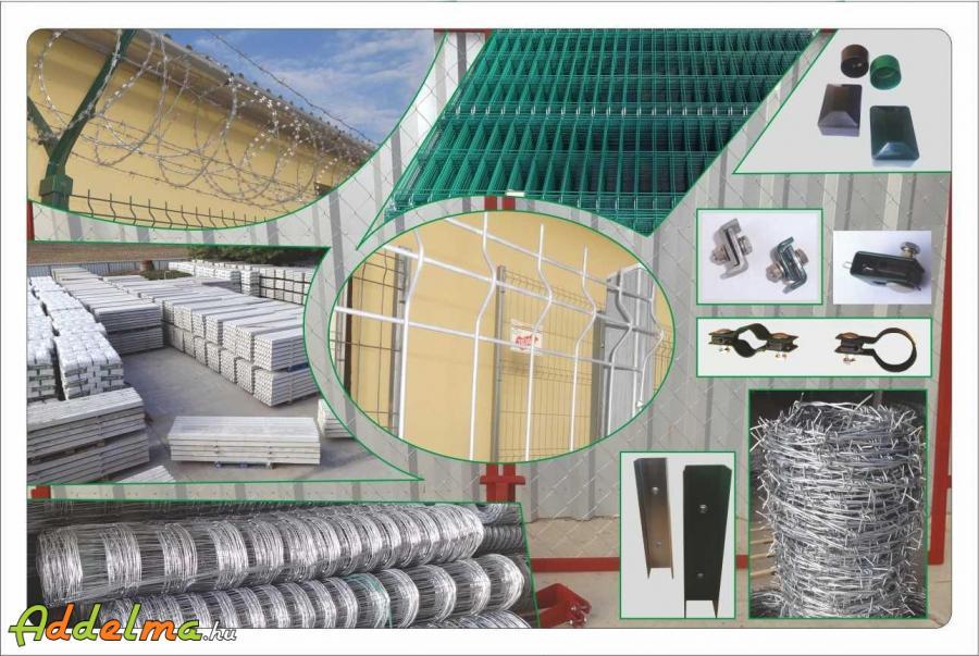 Vadháló, drótfonat, kerítés  oszlop, betonoszlop, drótháló