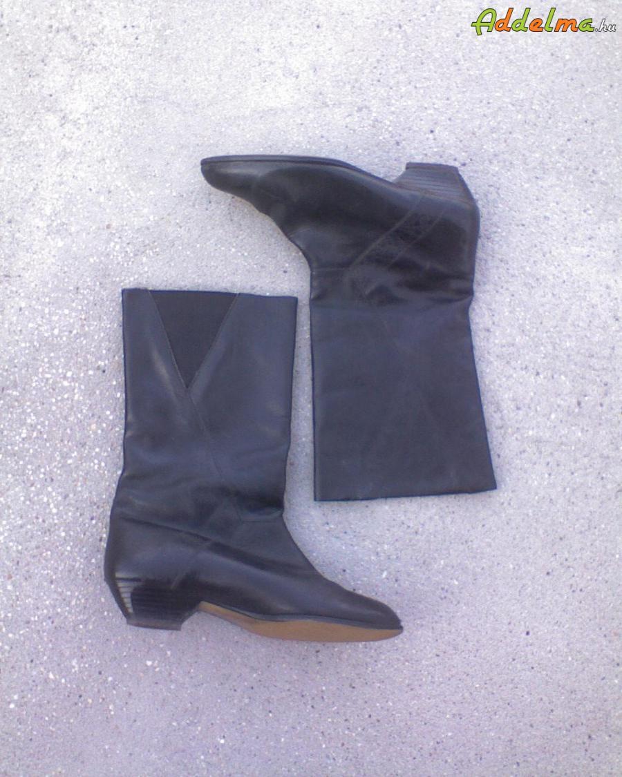 Fekete Valódi bőr csizma 38-as