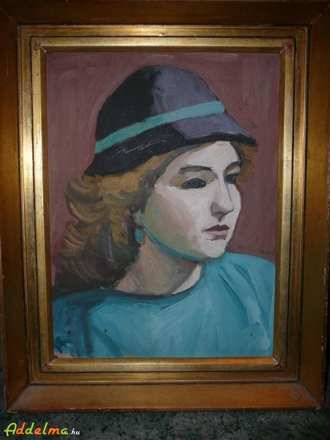 Festmény, Szőnyi Alkotó Közösség : Női arckép