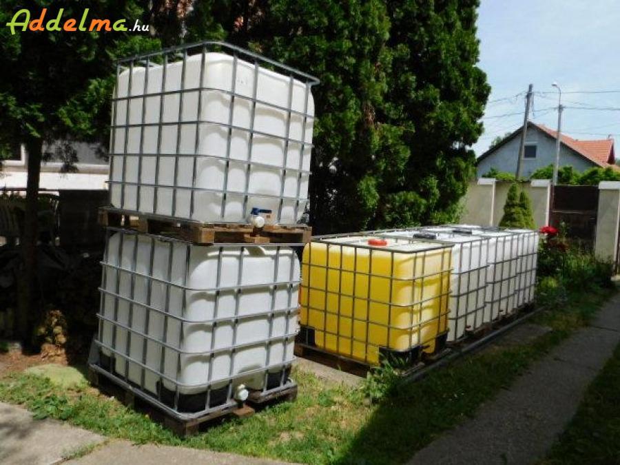 1000 l-es IBC tartály öntözésre, tápoldatnak