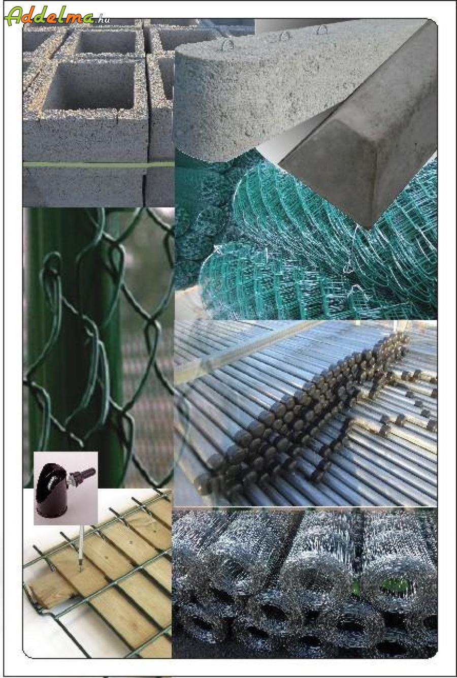 Vadháló drótfonat kerítés oszlop betonoszlop drótkerítés