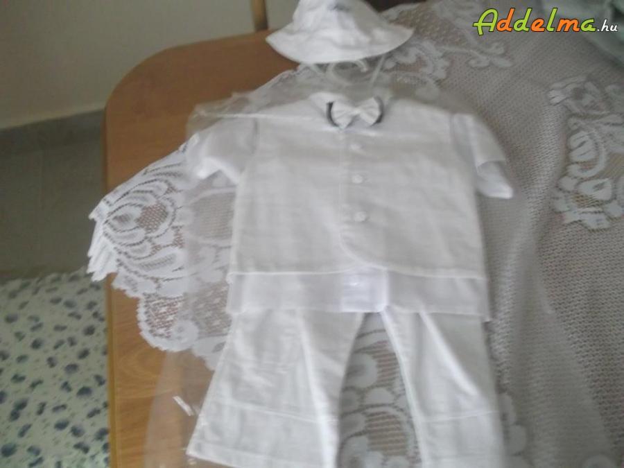 78d2a05562 Új 74-es fehér fiú öltöny eladó, Pest megye, Szigethalom ...