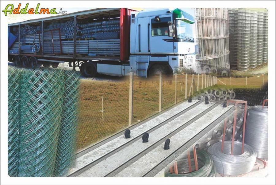 Vadháló kerítés kapu lábazati elem drótfonat