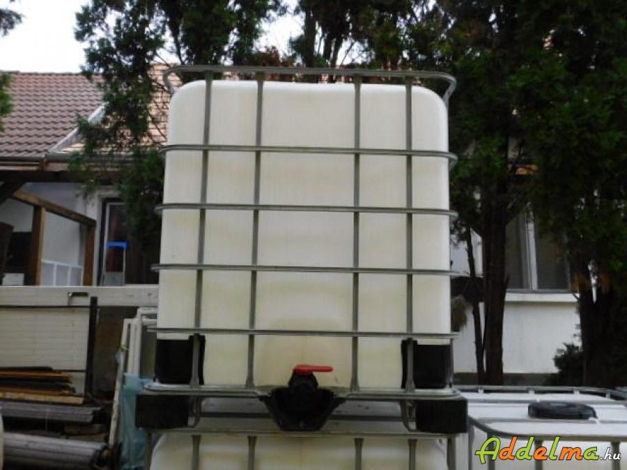 Élelmiszer ipari, használt, felújított 1000 l-es IBC tartályok