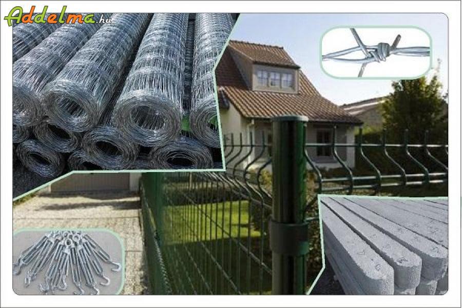 Vadháló,drótfonat,kerítés,betonoszlop, huzal