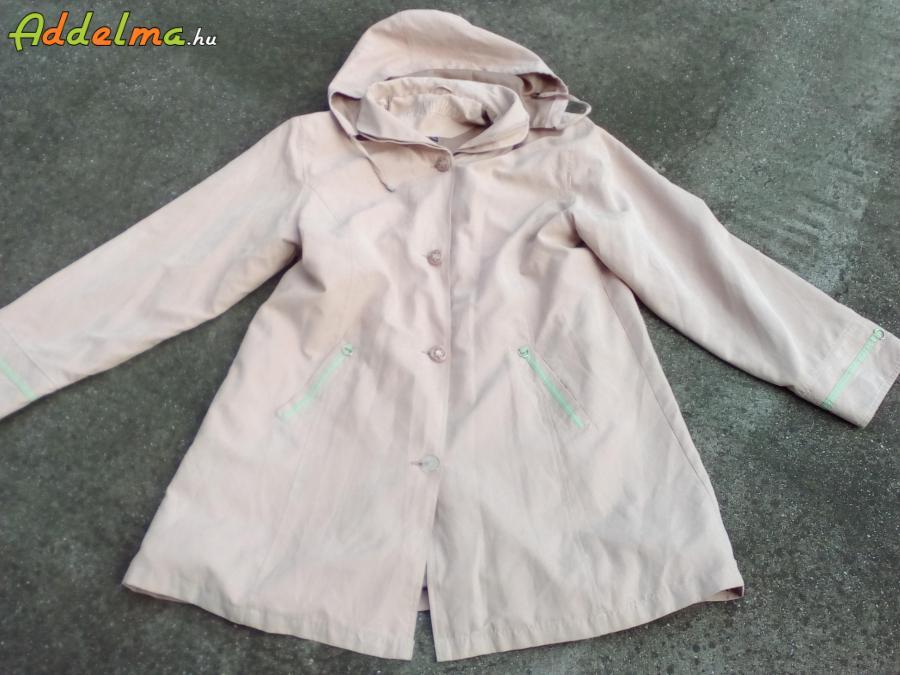 AQUAMARINE Bézs Moletti kapucnis átmenti kabát 3XL-es