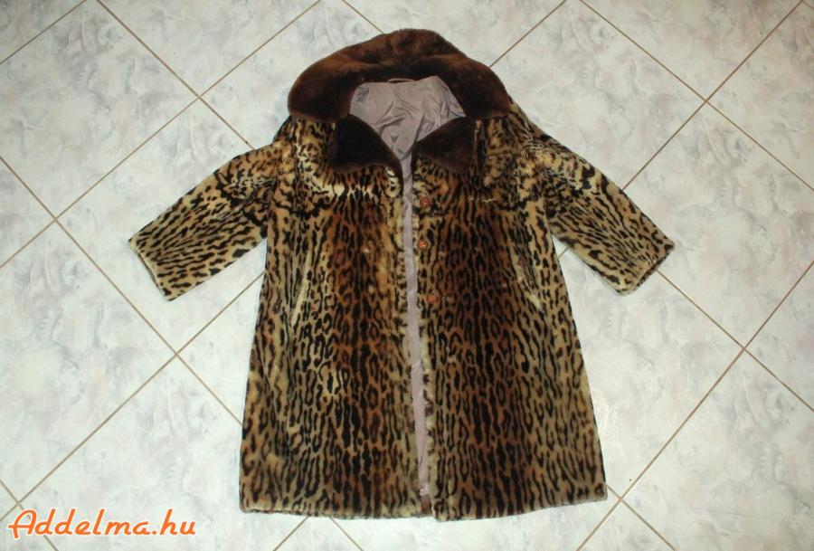 Női Ocelot szőrme bunda eladó féláron