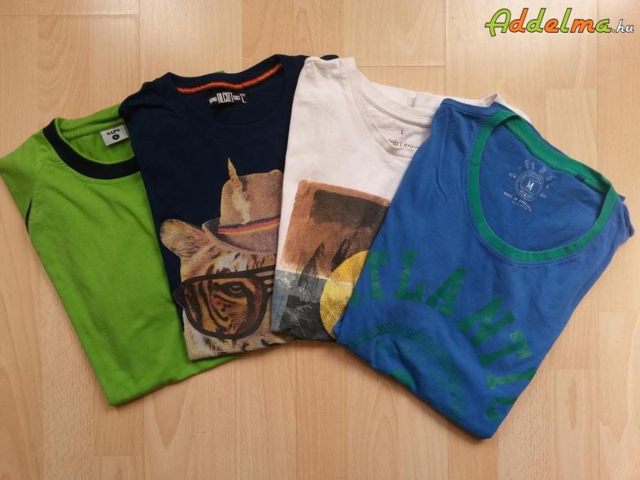 4db férfi póló L
