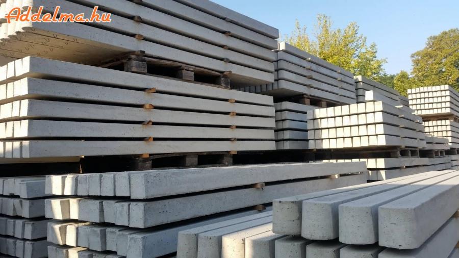 vadháló, betonoszlop kerítéselem drótfonat drótháló