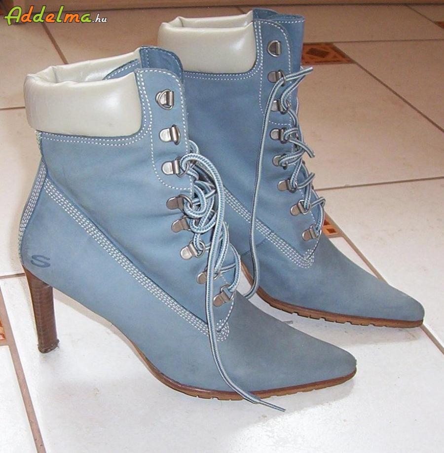 Kék bőr Skechers rövid csizma eladó