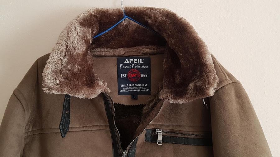 Afeil férfi kabát irha bunda L  9e0dc9a92e