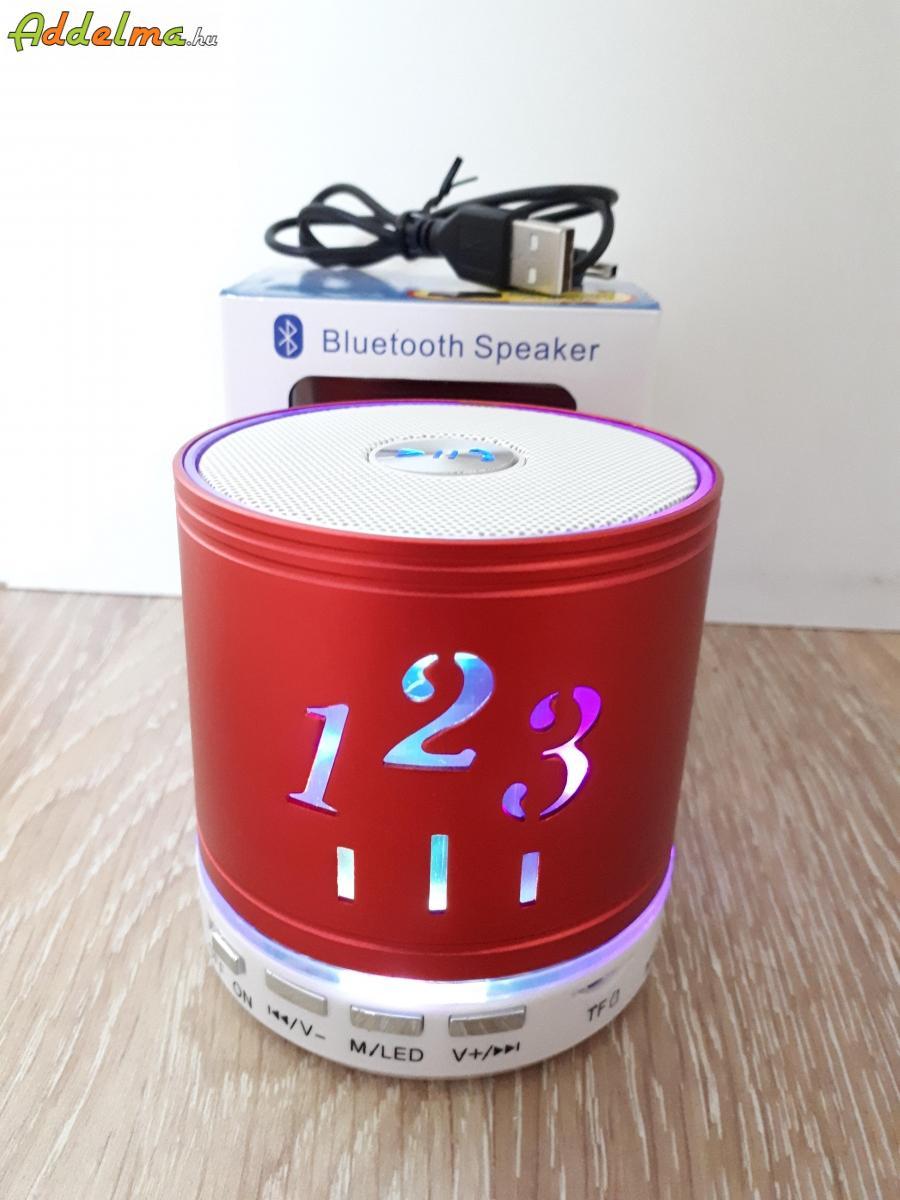 LED világítós hordozható bluetooth hangszóró hangfal rádió