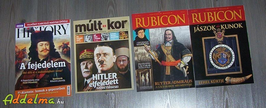 Történelem, újságok eladók