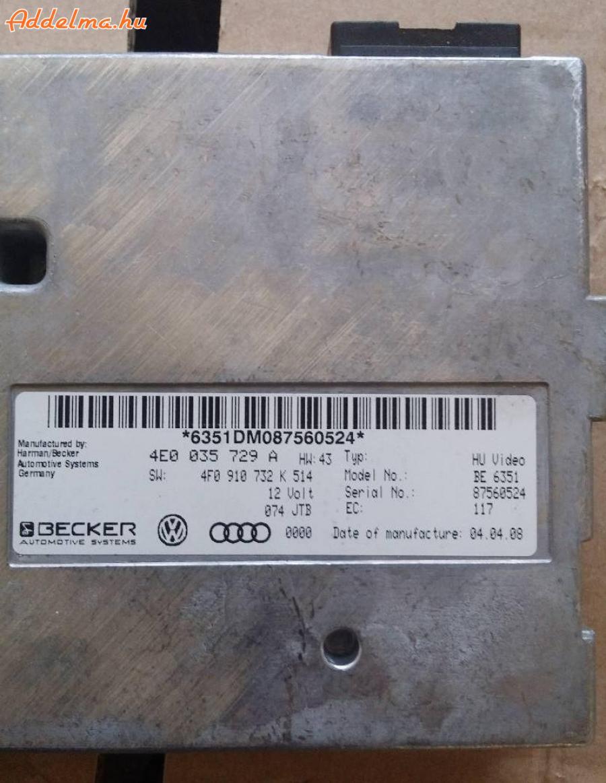 Audi A6   MMI 2 Vezérlő