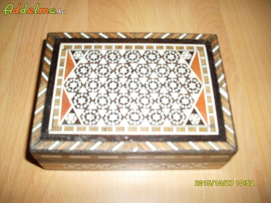 Egyiptomi ÚJ intarziás dobozka
