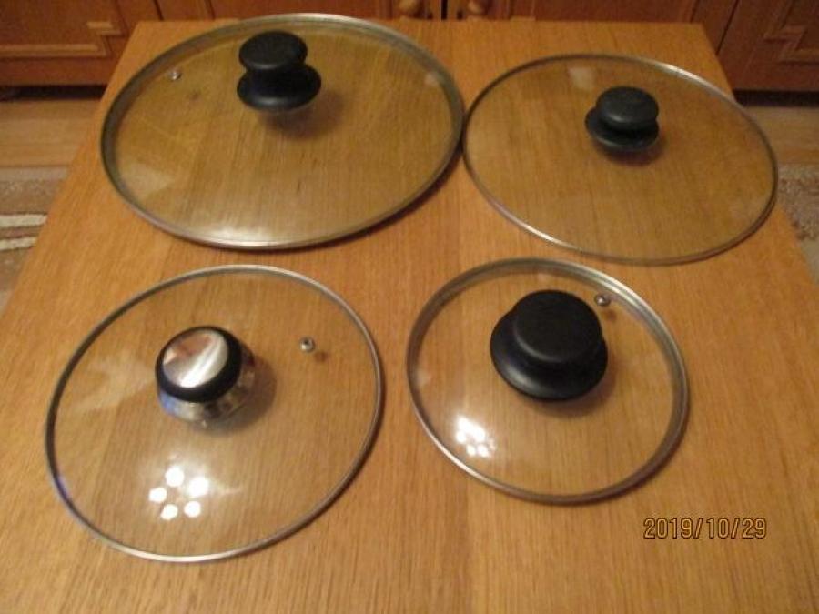Jénai üveg fedők különböző méretben