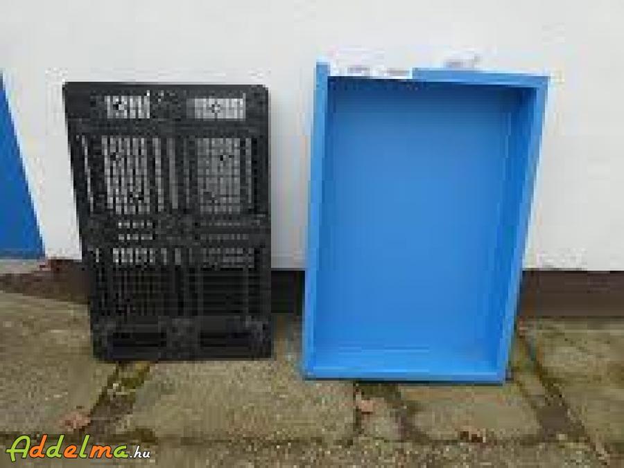 Két hordós, műanyag kármentőtálca