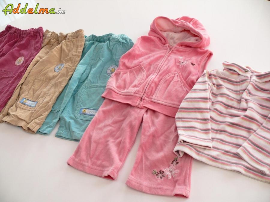 d60e726c13 62 - 68-as őszi-téli kislány babaruha csomag (13 darab), Pest megye ...