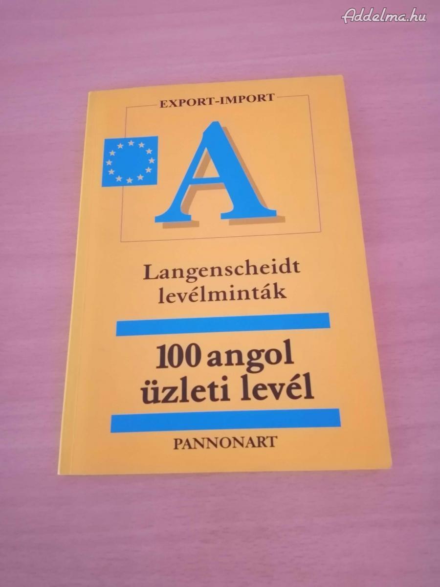 100 angol / német üzleti levél eladó