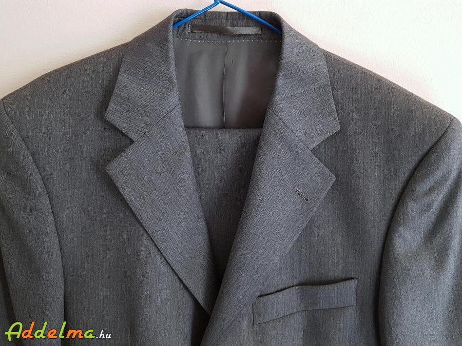 Becker-Styl Új 100% Gyapjú Szürke férfi öltöny