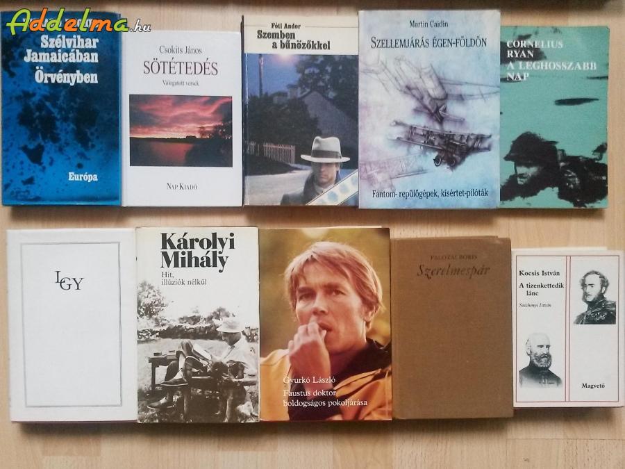 15db antikvár könyv, könyvcsomag