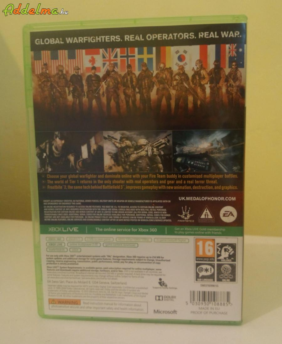 Medal of Honor : Warfighter - Xbox360 - Eredeti DVD - 2db DVD