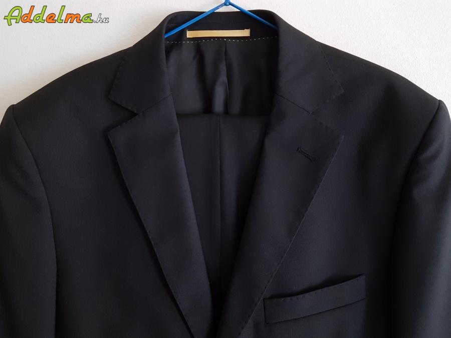 Licona Új 100% gyapjú sötétkék férfi öltöny