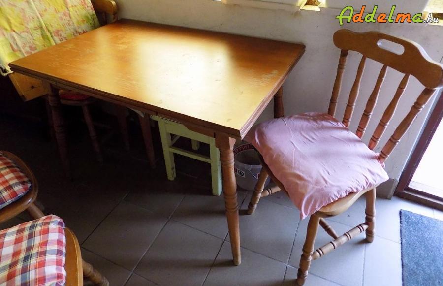 Fa ebédlő asztal + székek