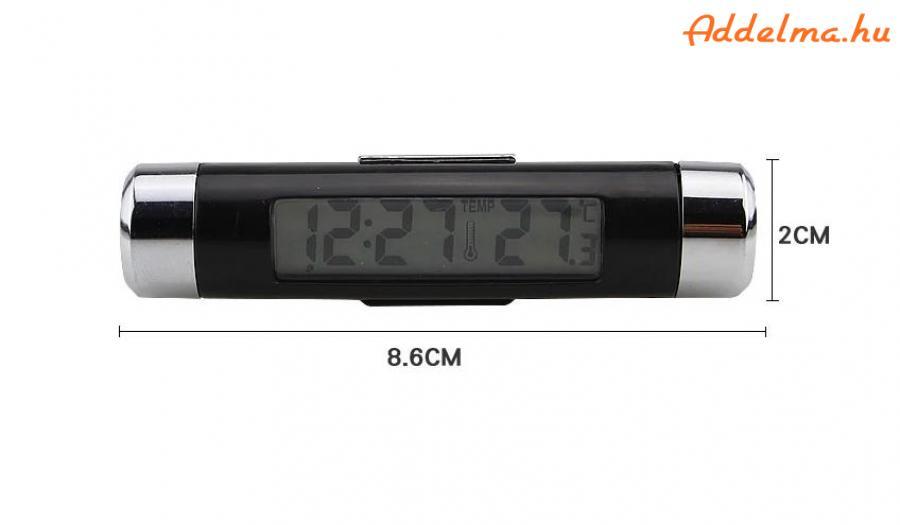 LED digitális óra hőmérő autóba