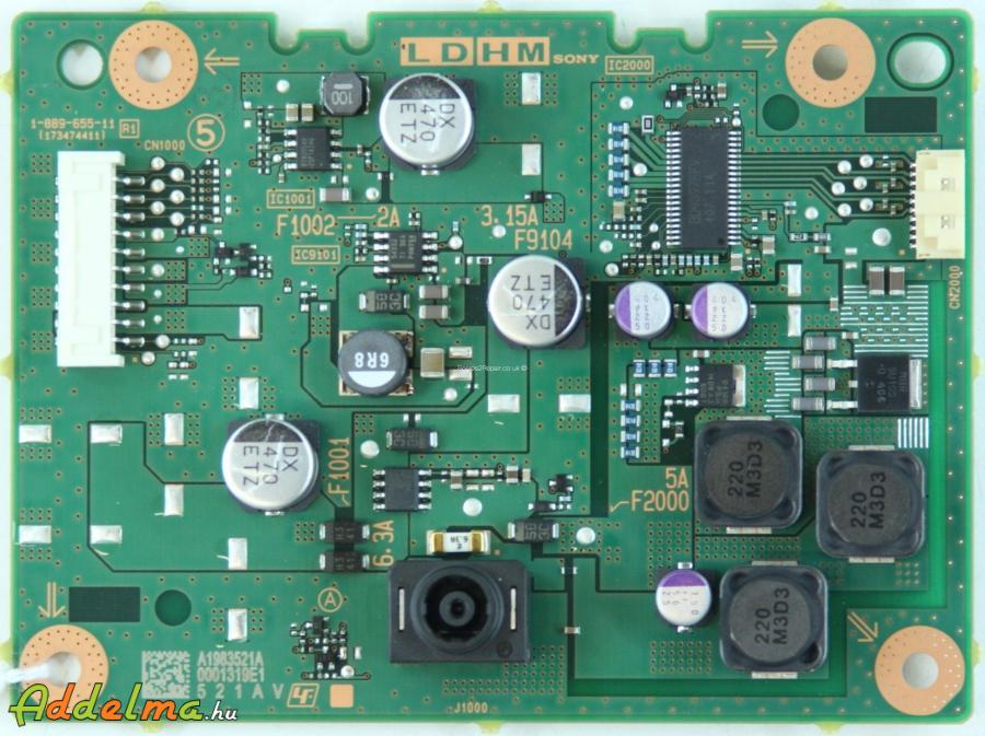 Sony KDL-40W605b Vezérlő Elektronika Eladó (Törött az LCD)