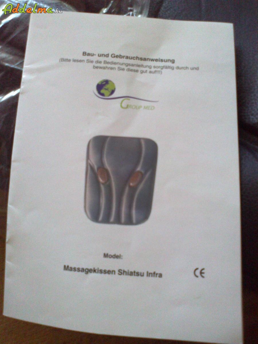 SHIATTSU MASSAGANKISSEN IMFRÁS MASSZÁZS KÉSZÜLÉK