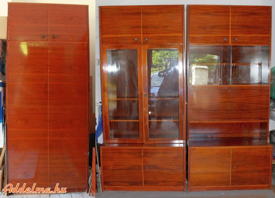 60-as évekbeli fa szekrénysor eladó