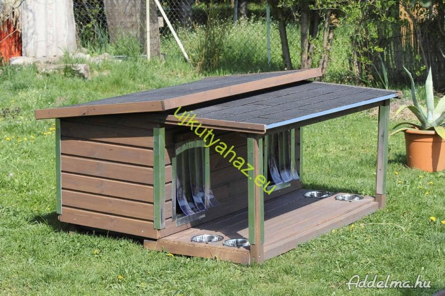 70x130 dupla kutyaház,terasszal