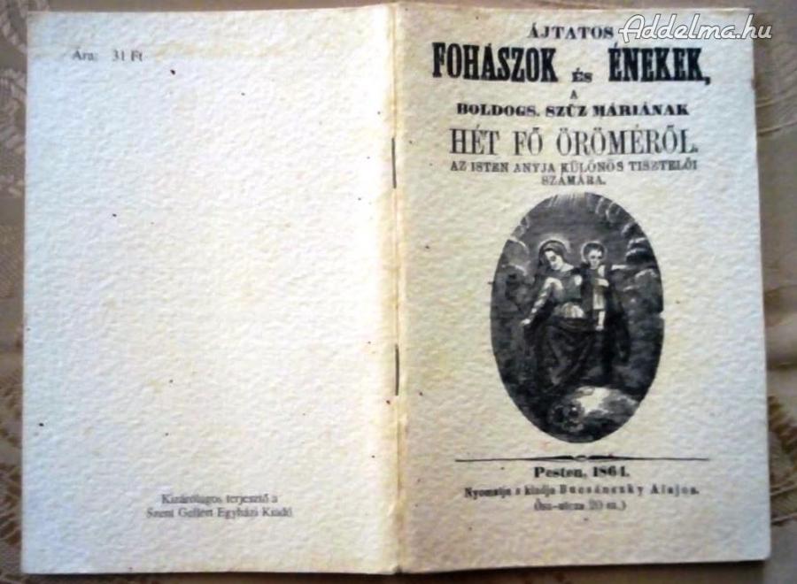 Ájtatos fohászok és énekek (1864)