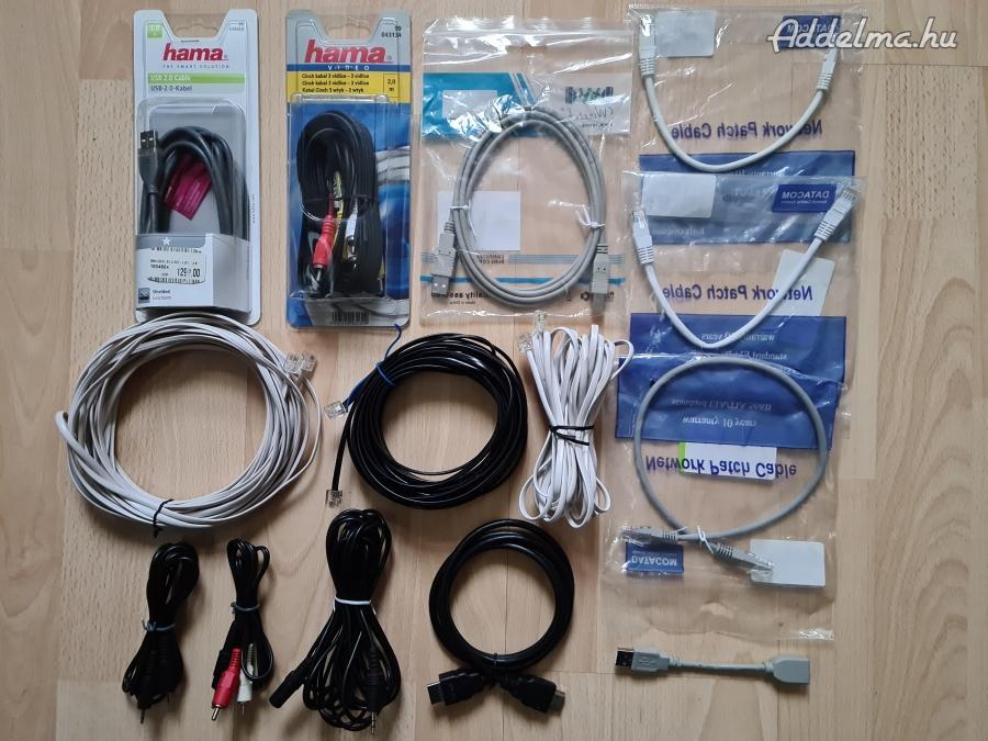 Audio video és pc kábelek: Jack RCA HDMI USB