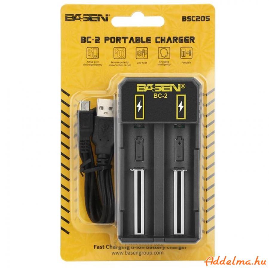Basen BC-2 USB  Li-ion akkumulátor elem töltő 5V 2A