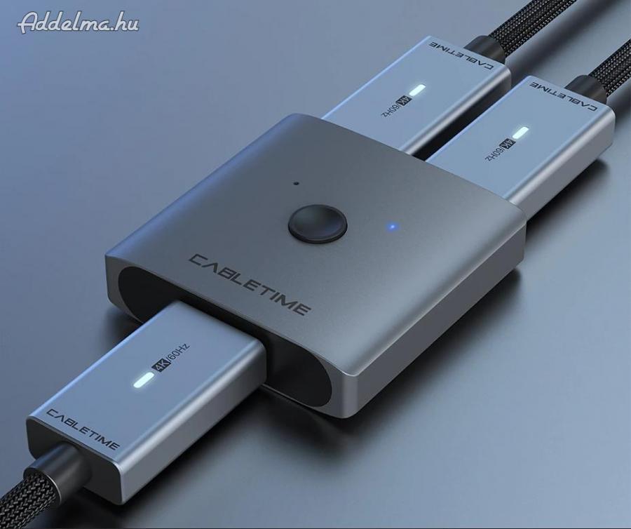 Cabletime HDMI Switch 4K 60Hz UHD Bi-Direction Splitter 1x2 2x1