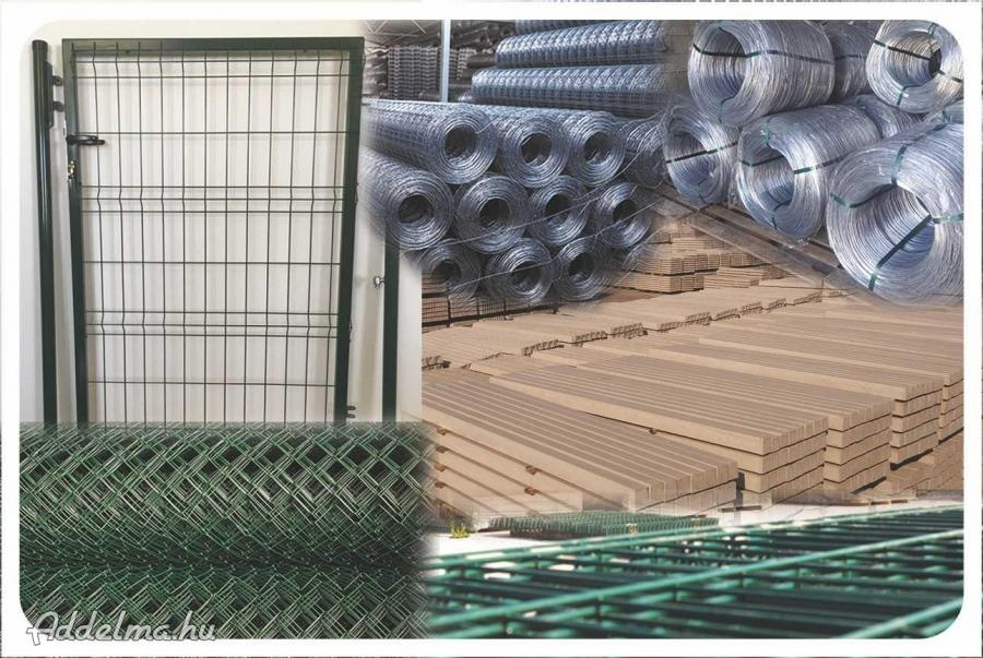 Drótfonat vadháló betonoszlop kerítés építés drótkerítés
